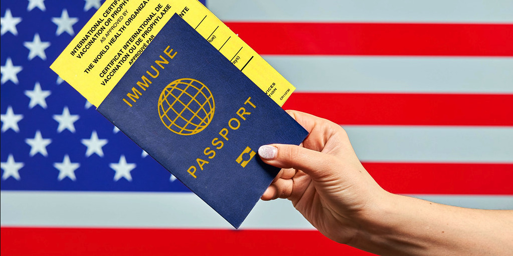 Image by Marco Verch: Traveling to US with vaccine passport and International certificate of vaccination.
